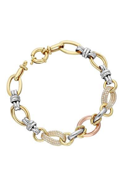 Chavin Kadın Hallow Altın Modeli Mikron Kaplama Gümüş Bileklik  ehy-dy93
