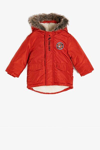 Koton Kids Kırmızı Erkek Bebek Kaban