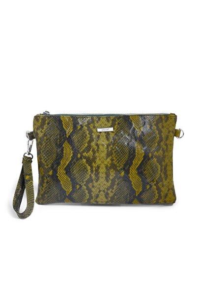 Coquet Accessories Kadın Yeşil Karite Clutch 19G3U13N078