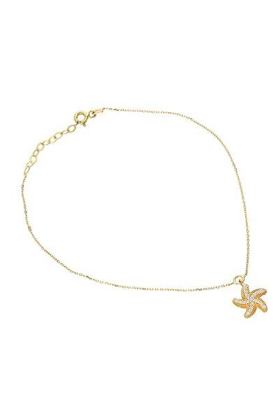 Glorria Kadın Altın Deniz Yıldızı Halhal VK0671