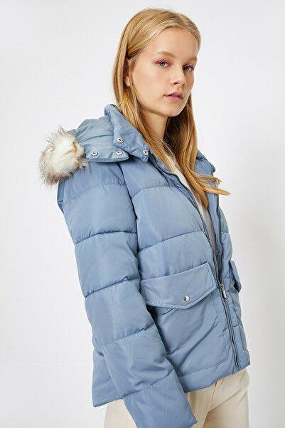 Koton Kadın Mavi Jackets Anorak 0KAL08175UW