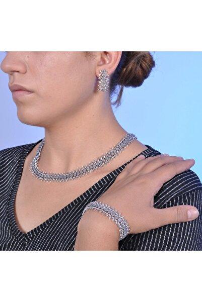 Midyat Nurtaş Gümüş Kadın Markazit Taşlı Oksitli Telkari Gümüş Üçlü Set MNG201013525
