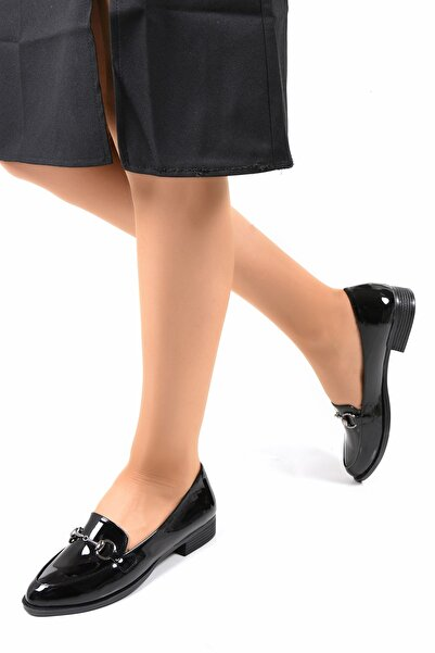 Sapin Siyah Rugan Kadın Ayakkabı 23502