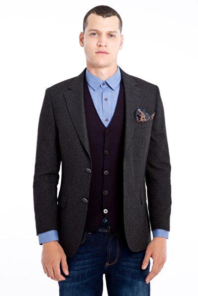 Kiğılı Desenli Klasik Ceket