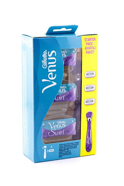 Gillette Venus Swirl Kadın Tıraş Makinesi + 3 Yedek Tıraş Bıçağı Hediye