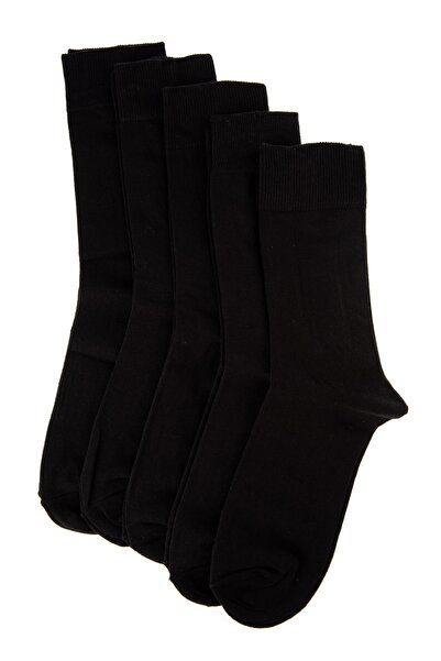 TRENDYOL MAN Siyah Erkek 5'li Paket Çorap TMNAW20CO0019