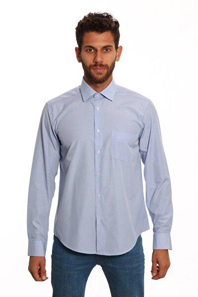 Diandor Uzun Kollu Erkek Gömlek Mavi/Blue 1922026