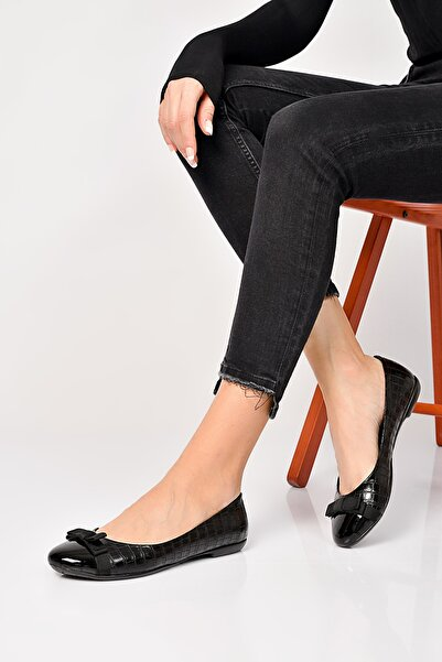 Shoes Time Siyah Kadın Babet 19Y K05