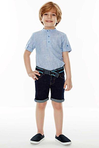 Wonder Kıds Mavi Erkek Çocuk Gömlek