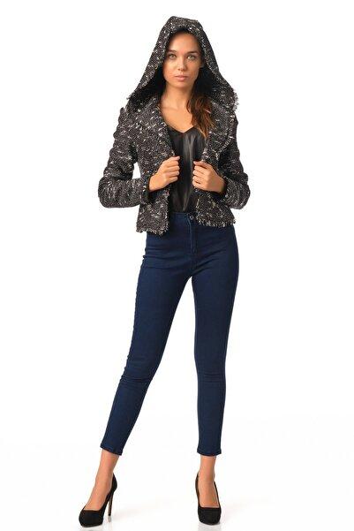 Lefon Kadın Kapşonlu Hooded Jacket 52780 Siyah