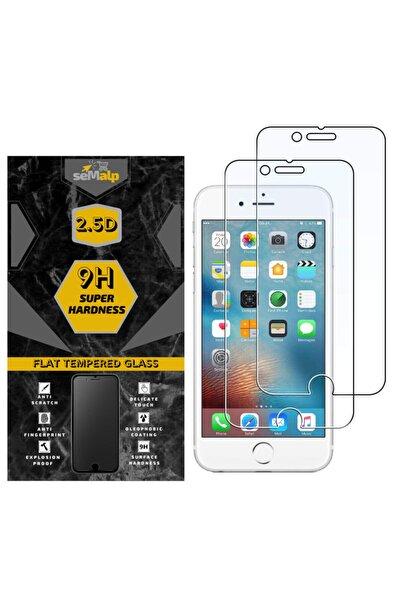 seMalp Iphone 7 Uyumlu Hd Netlikte 9h Sertlikte Temperli Ekran Koruyucu Cam 2'li