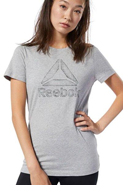 Reebok GS TRACED DELTA CREW TEE Gri Kadın T-Shirt 100479558