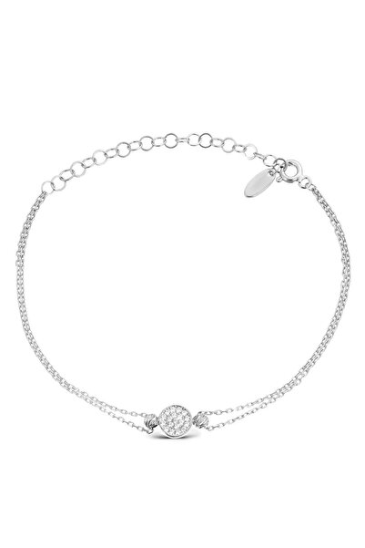 Coquet Accessories Rodyum Pave Gümüş Bileklik 19G9U08N641