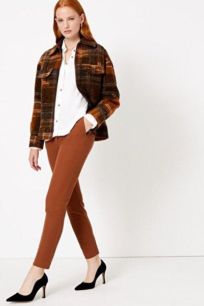Marks & Spencer Kadın Turuncu Pamuklu Slim Leg Ankle Pantolon T59005211T