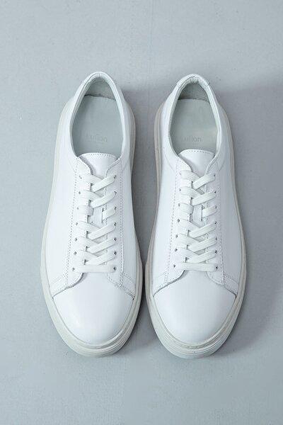 Lufian Slant Deri Sneaker Beyaz