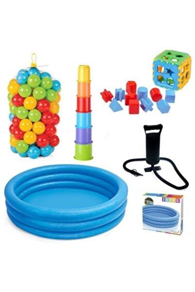 Intex Çocuk Oyun Havuz Bultak Top Pompa Ve Kule Seti
