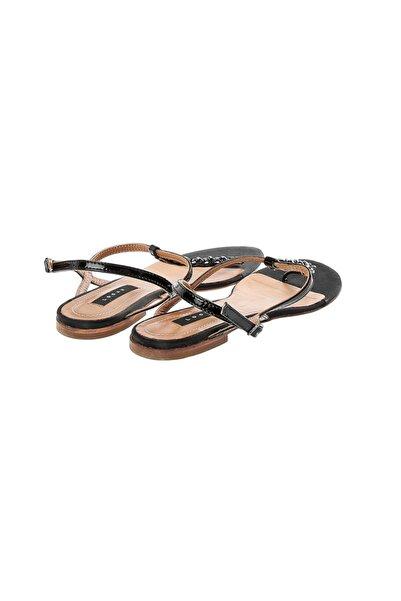 Logan Siyah Kadın Sandalet L05094  Ladıes Sandals