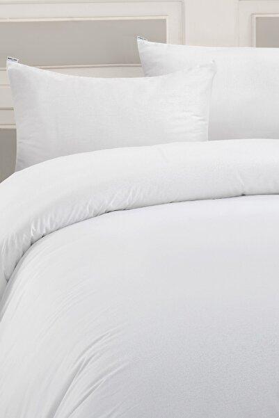 Marie Claire Otel Serisi Tek Kişilik Çarşaf Prague Pamuk 180X260 Cm Beyaz