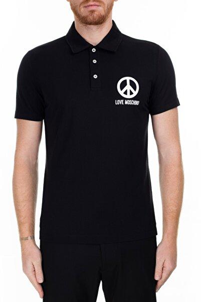 Love Moschino Erkek Siyah T-Shirt S M831801M3876 C74
