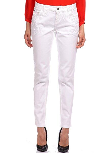 Maje Beyaz Jean Pantolon