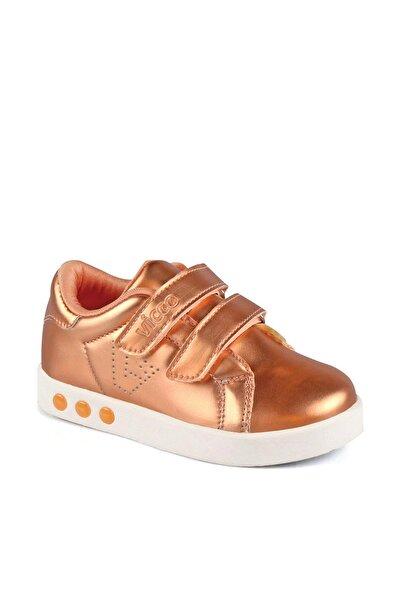 Vicco 313.B19K.200 BEBE IŞIKLI Bronz Kız Çocuk Kalın Tabanlı Sneaker 100530309