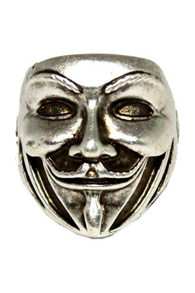 Modaroma V For Vandetta Gümüş Kaplama Ayarlamalı Yüzük