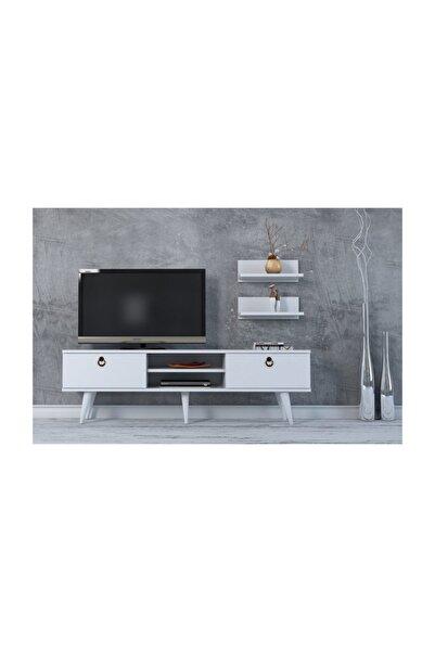 cantek Milano Tv Ünitesi 150cm Beyaz