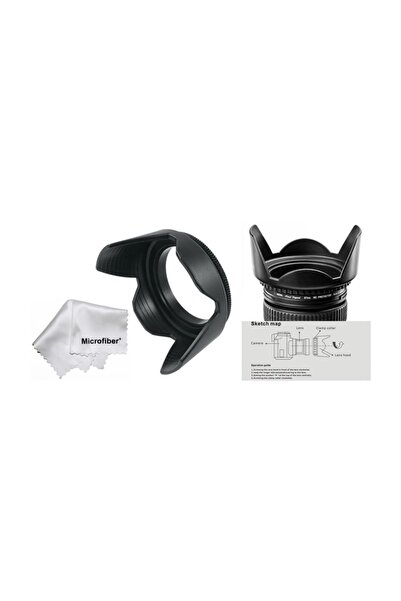 Tianya Canon 100d 200d 250d 18-55 mm Lens Için 58 mm Yaprak Parasoley Flower Hood