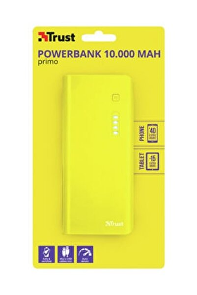 22753 Primo 10000 Mah Taşınabilir Şarj Cihazı Sarı