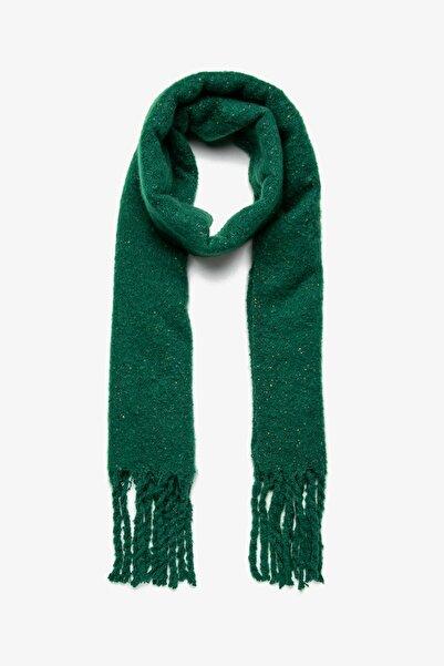 Koton Kadın Yeşil Desenli Atkı 0KAK53176AA