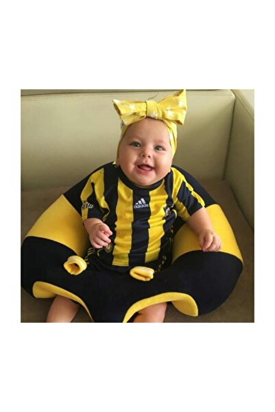 BEBEYATMAZ Bebe Yatmaz Bebek Oturma Destek Minderi Bebek Koltuğu Lacivert Sarı