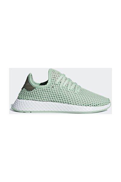 adidas B37680 Deerupt Runner W Yeşil Bayan Günlük Spor Ayakkabısı