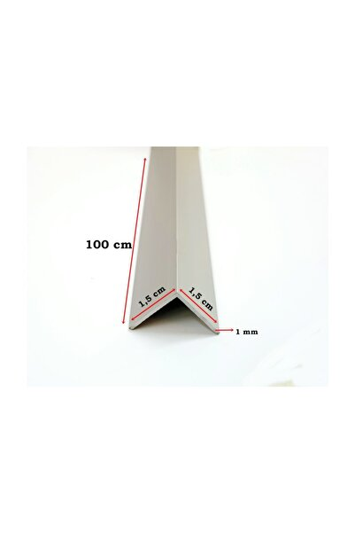 Şahin Alüminyum Köşe Profili Alüminyum Köşebent L Profil ( 1,5 cm X 1,5 cm X 100 cm)