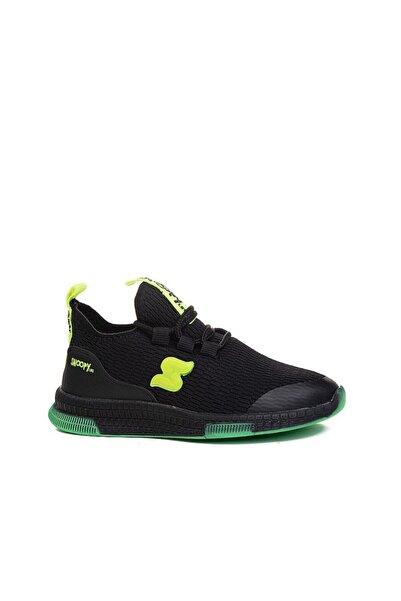 SNOOPY Erkek Çocuk Siyah Yeşil Triko Ayakkabı Filet 01