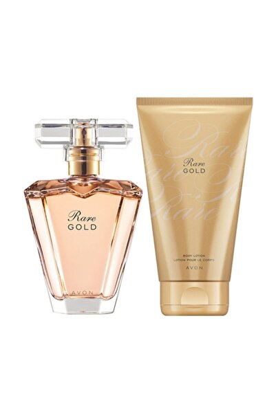 AVON Rare Gold Kadın Parfüm Vücut Losyonu Set