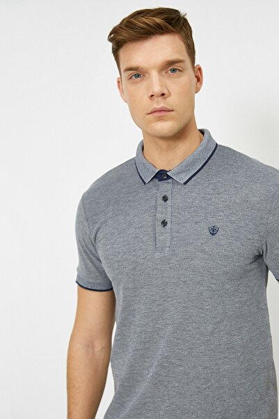 Koton Erkek Lacivert Polo Yaka T-Shirt 0YAM12003OK