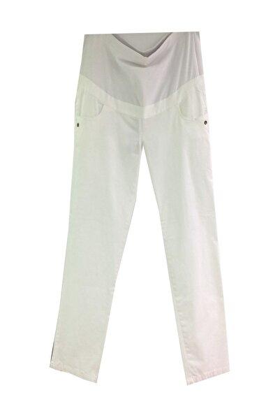 Desen Sedef Kanvas Hamile Pantolon