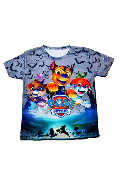 PAW PATROL Erkek Çocuk Gri Baskılı Tişört