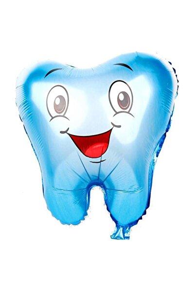 Parti dolabı 1 Adet Erkek Mavi Diş Şeklinde Folyo Balon, İlk Diş Buğdayı Balonu