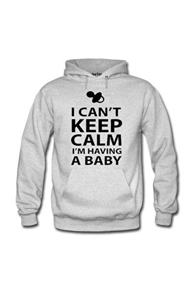 Dyetee Keep Calm Bebek Kadın Kapüşonlu Sweatshirt -