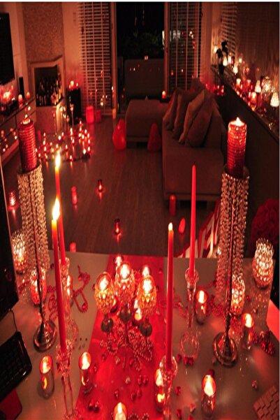 Parti dolabı Evlilik teklifi romantik paket 8li+ gül yaprağı+kalpli mum, balon