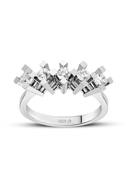 İBER DIAMOND F Sı 0.30 Karat Pırlanta Beştaş Yüzük - syzf020-030