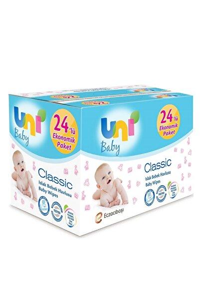 Uni Baby Islak Havlu Classic Kapaklı 24'lü - 1344 Yaprak