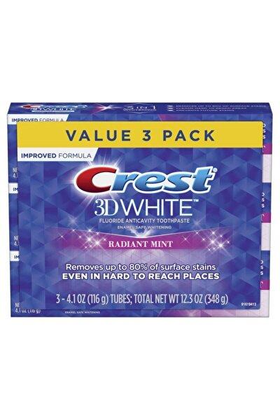 CREST 3d White Radiant Mint Diş Macunu 116 Gr X 3 Adet