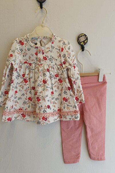 DECO Kız Bebek 3-18 Ay Çiçekli Tunikli Takım