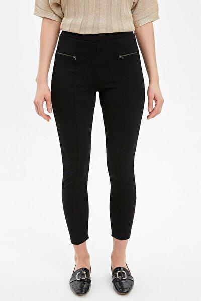 DeFacto Kadın Siyah Slim Fit Basic Tayt N0735AZ.20SP.BK27