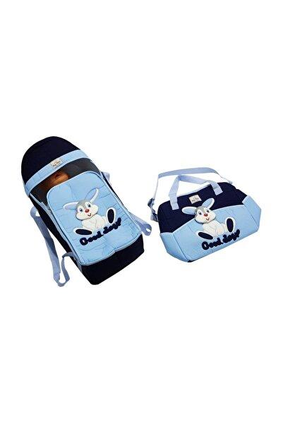 bebegen 2'li Tavşan Taşıma Çanta Seti Lacivert Mavi
