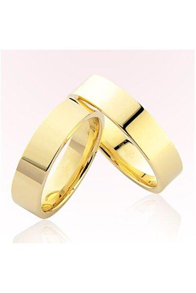 Harem Altın Kadın Sarı Düz Altın Alyans 5802
