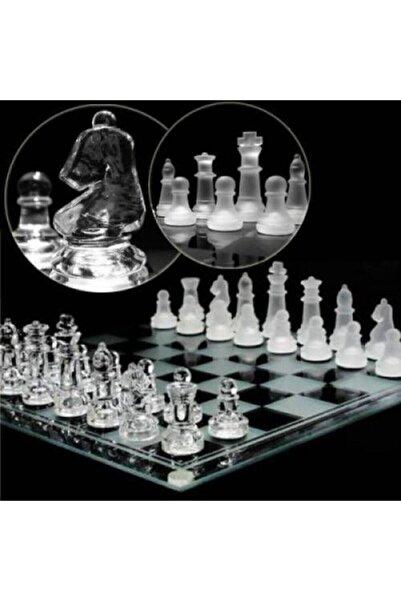 Glass Chess Cam Satranç Takımı (25 Cm X 25 Cm)