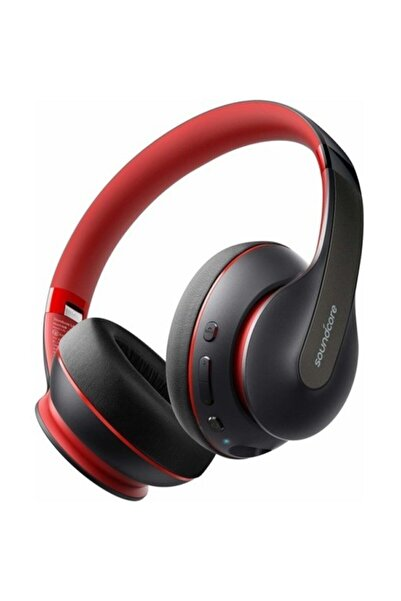 Anker Soundcore Life Q10 Kablosuz Bluetooth 5.0 Kulaklık - 60 Saate Varan  - Siyah Kırmızı - A3032